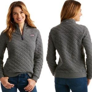 Vineyard Vines Quilted Shep Shirt Grey Pullover